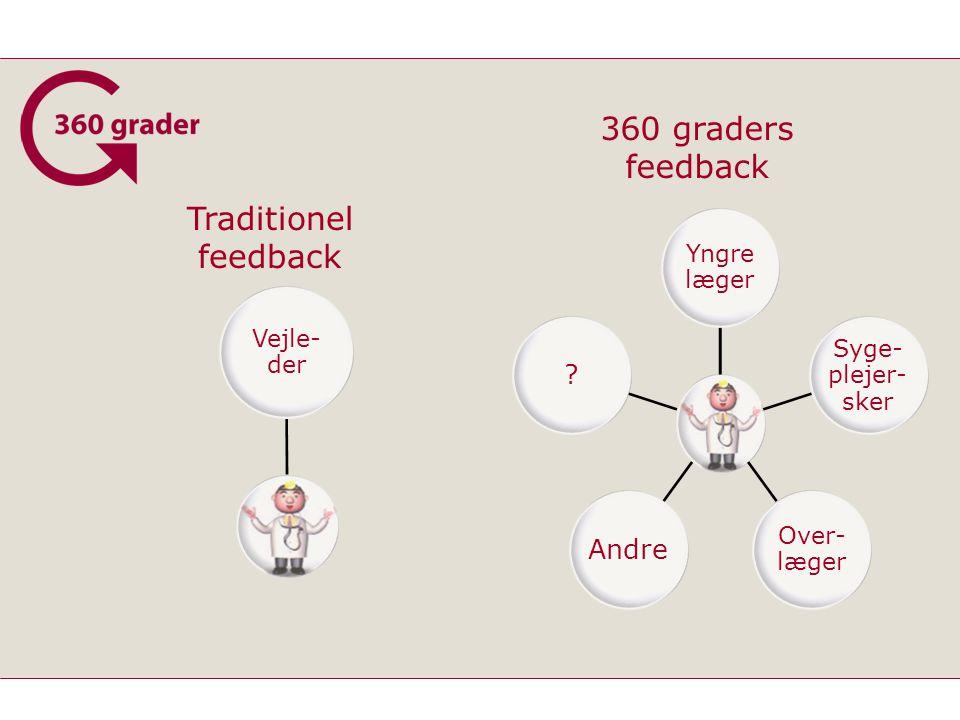 360 graders feedback Traditionel feedback Yngre læger Syge-plejer-sker