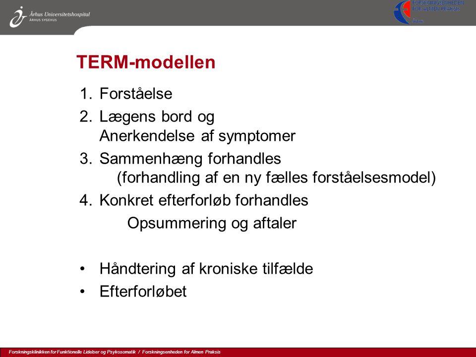 TERM-modellen Forståelse Lægens bord og Anerkendelse af symptomer