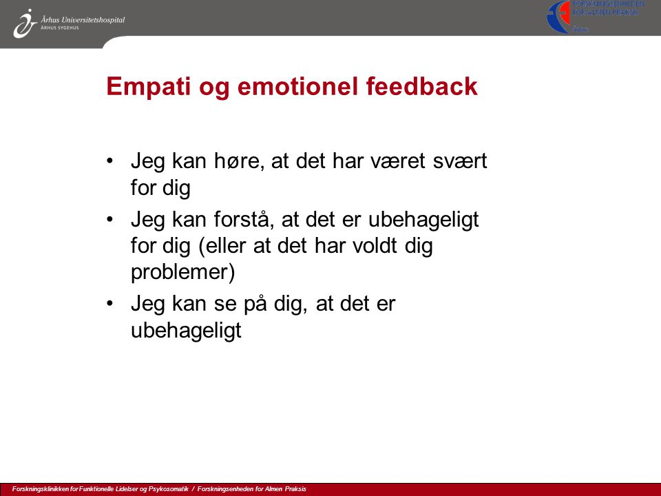 Empati og emotionel feedback