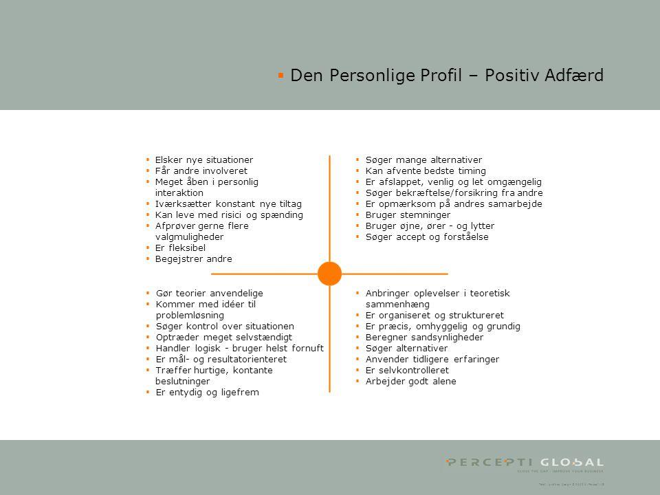 Den Personlige Profil – Positiv Adfærd