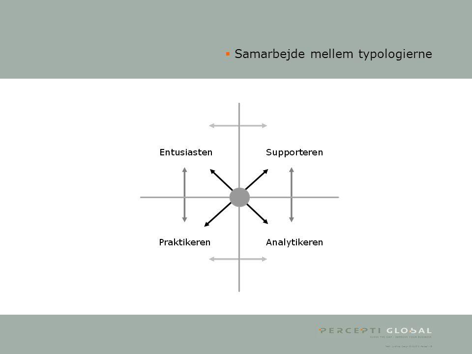 Samarbejde mellem typologierne