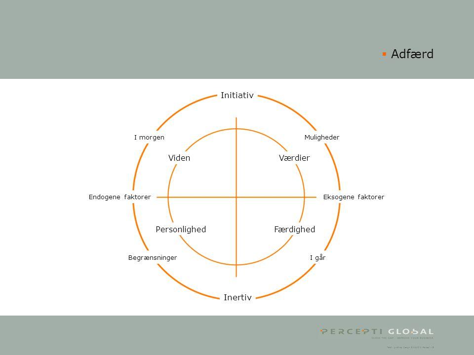 Adfærd Initiativ Inertiv Viden Personlighed Færdighed Værdier