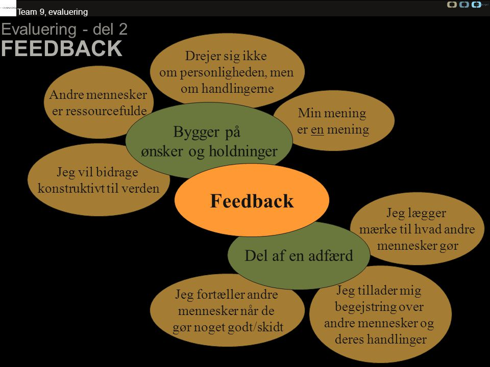 FEEDBACK Feedback Evaluering - del 2 Bygger på ønsker og holdninger