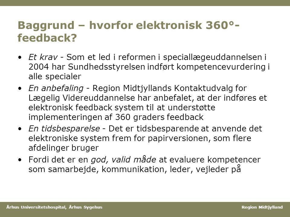 Baggrund – hvorfor elektronisk 360°-feedback