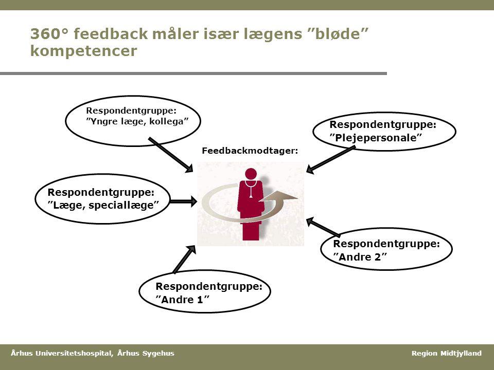 360° feedback måler især lægens bløde kompetencer