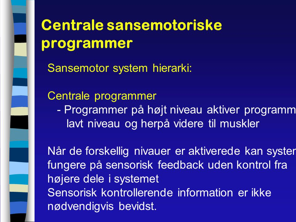 Centrale sansemotoriske programmer