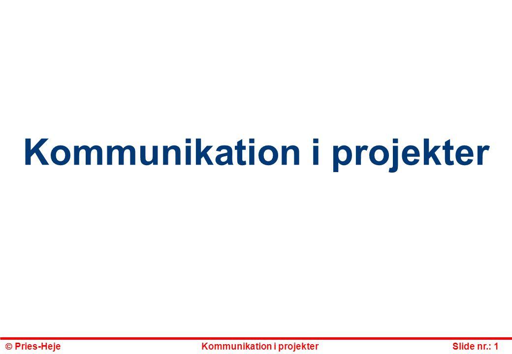 Kommunikation i projekter