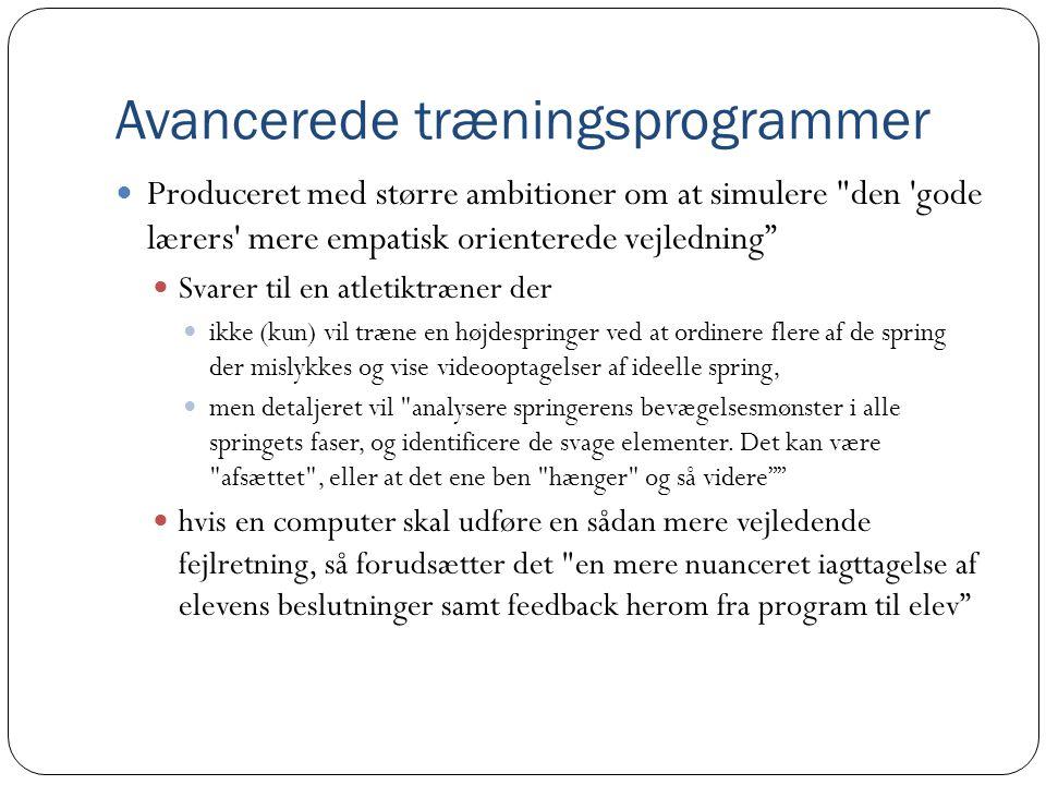 Avancerede træningsprogrammer