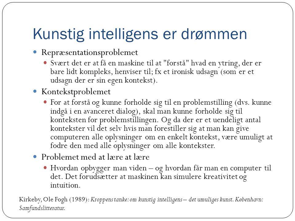 Kunstig intelligens er drømmen