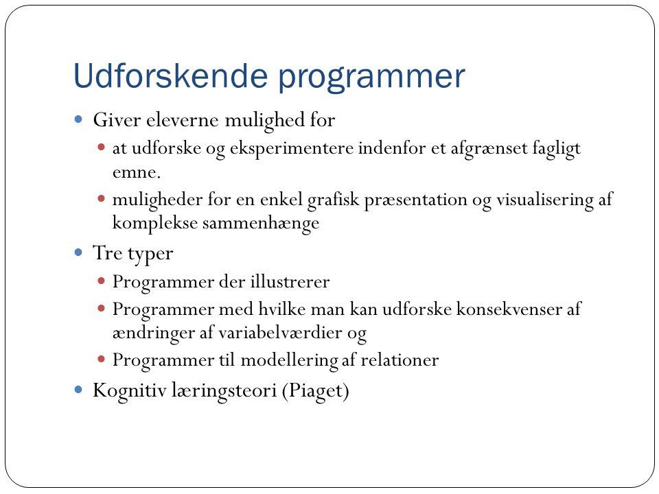 Udforskende programmer