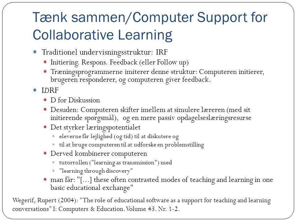 Tænk sammen/Computer Support for Collaborative Learning