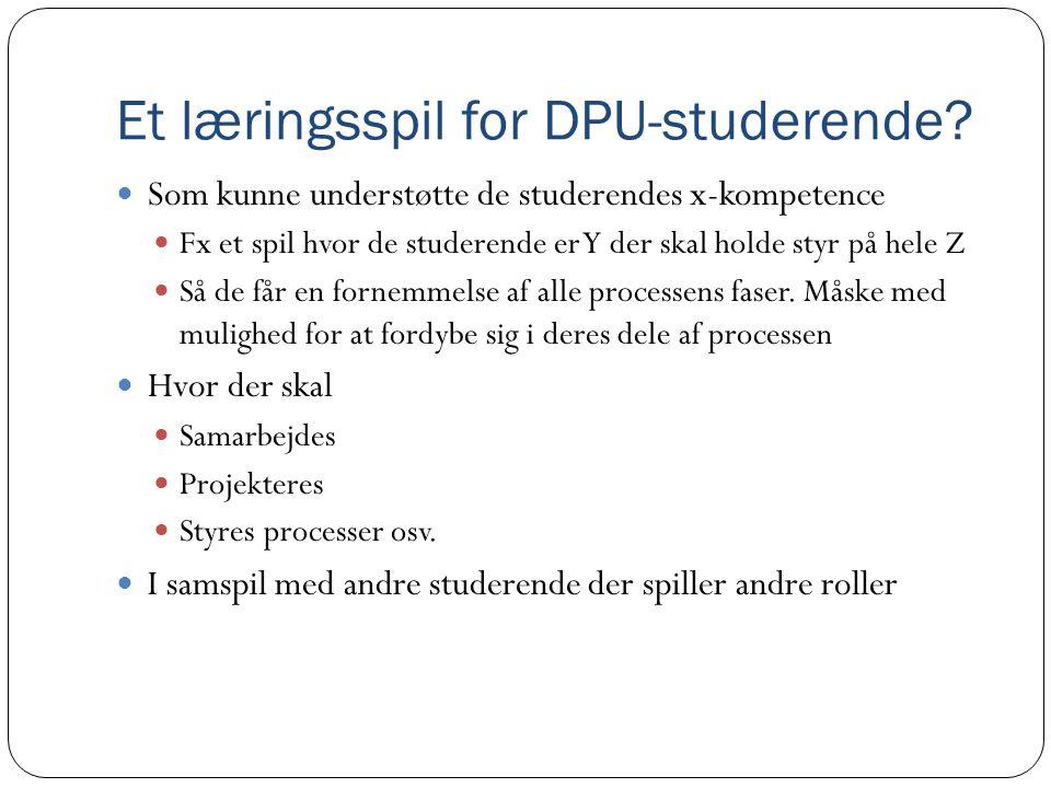 Et læringsspil for DPU-studerende