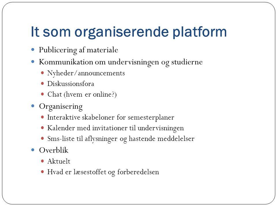 It som organiserende platform