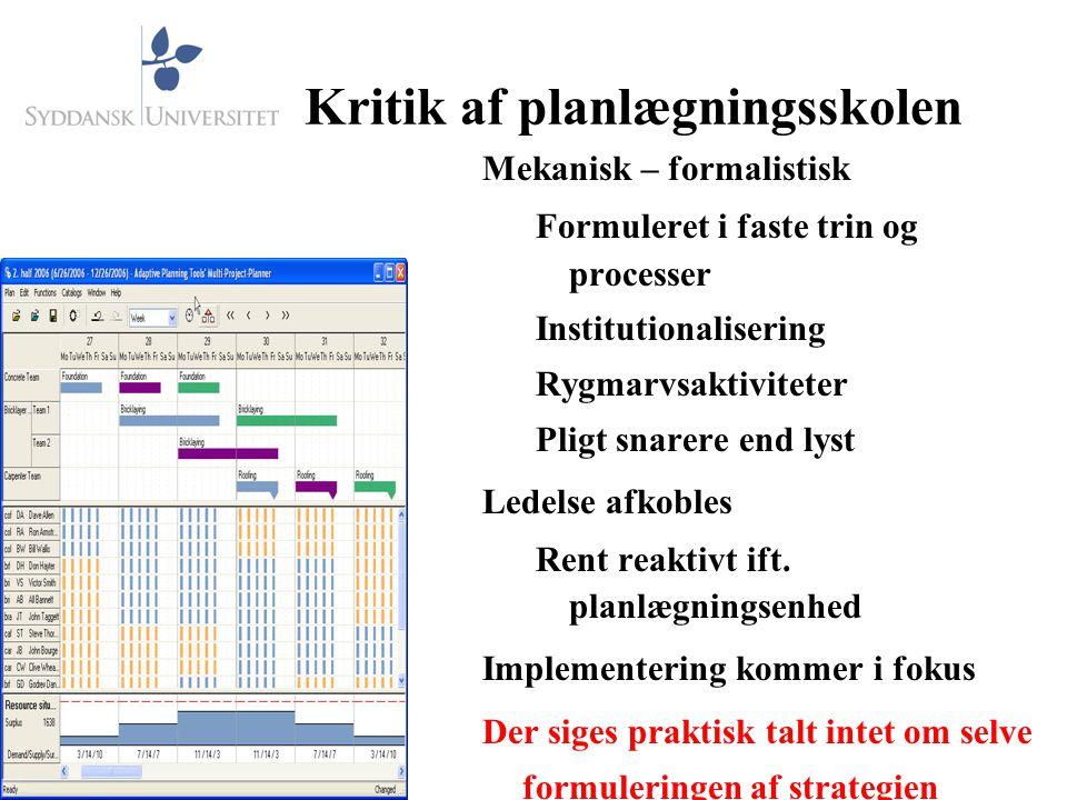 Kritik af planlægningsskolen