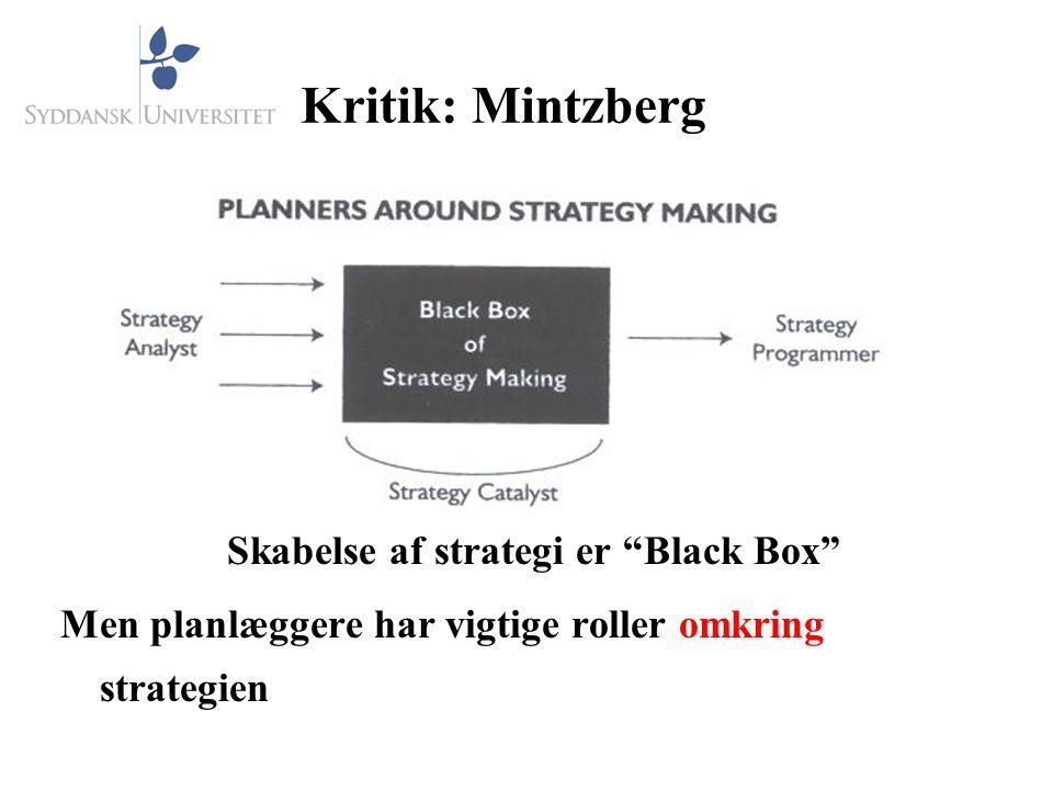 Skabelse af strategi er Black Box