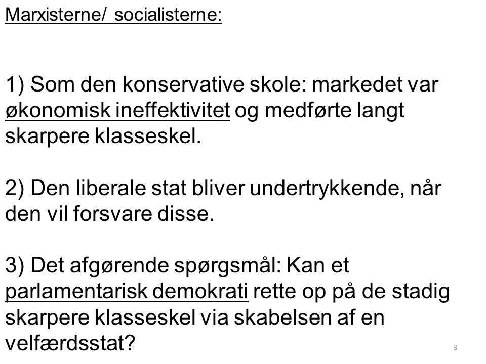 Marxisterne/ socialisterne: