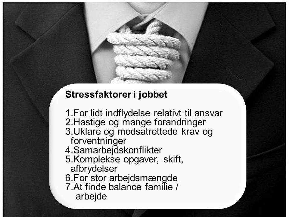 Stressfaktorer i jobbet