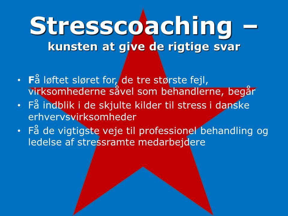 Stresscoaching – kunsten at give de rigtige svar