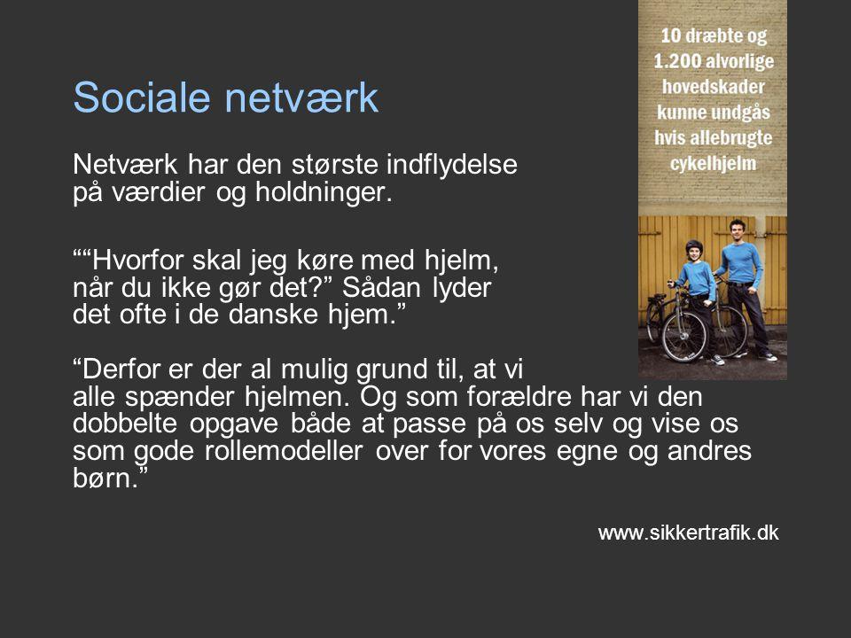 Sociale netværk Netværk har den største indflydelse på værdier og holdninger.