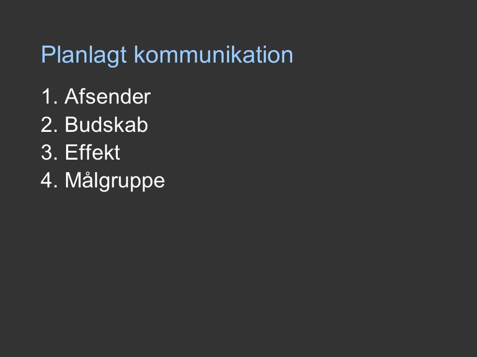 Planlagt kommunikation