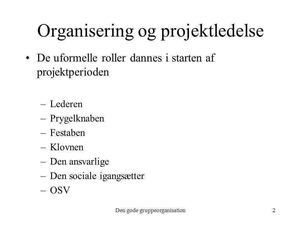 Organisering og projektledelse