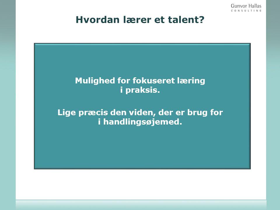 Hvordan lærer et talent