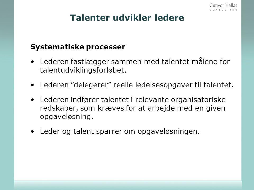 Talenter udvikler ledere