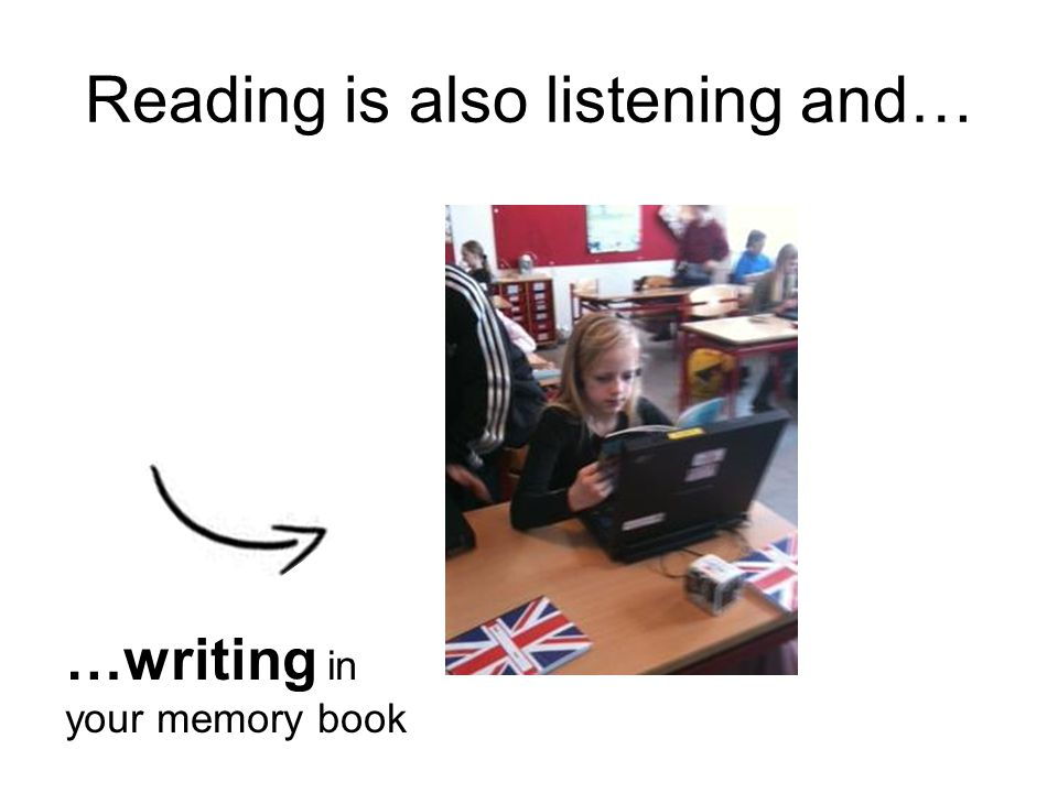 Reading is also listening and…