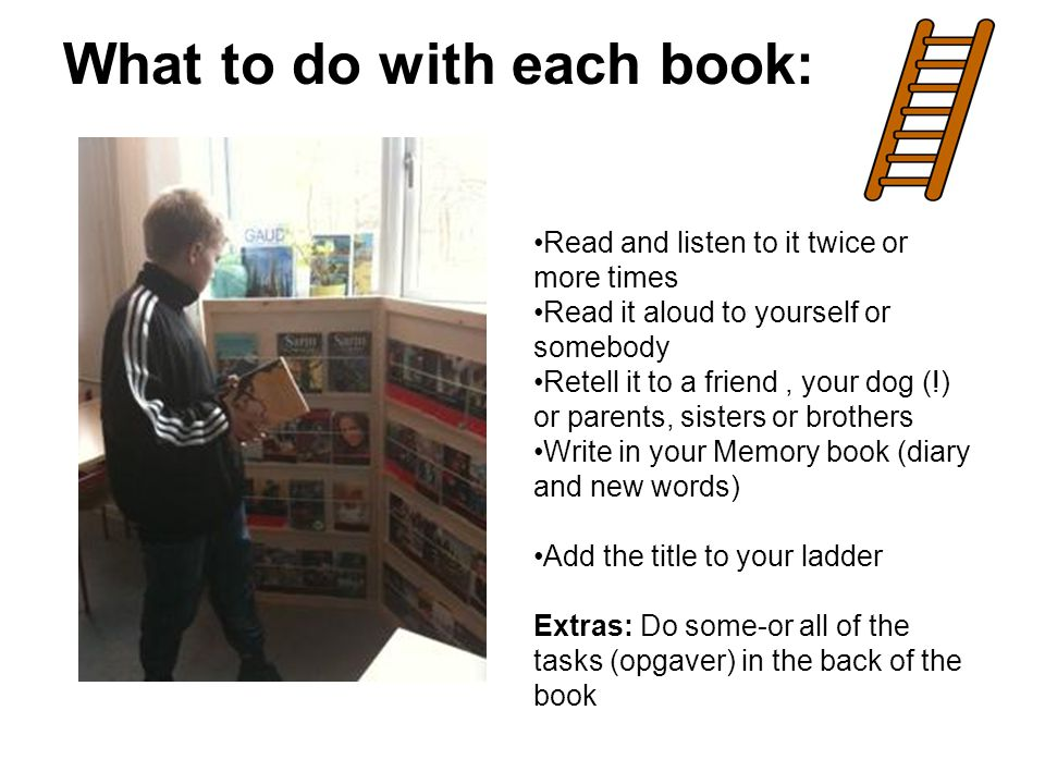 What to do with each book: