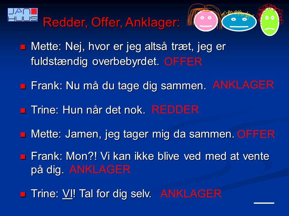 Redder, Offer, Anklager: