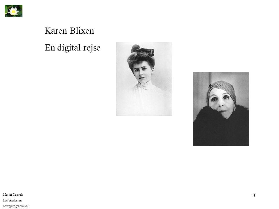 Karen Blixen En digital rejse