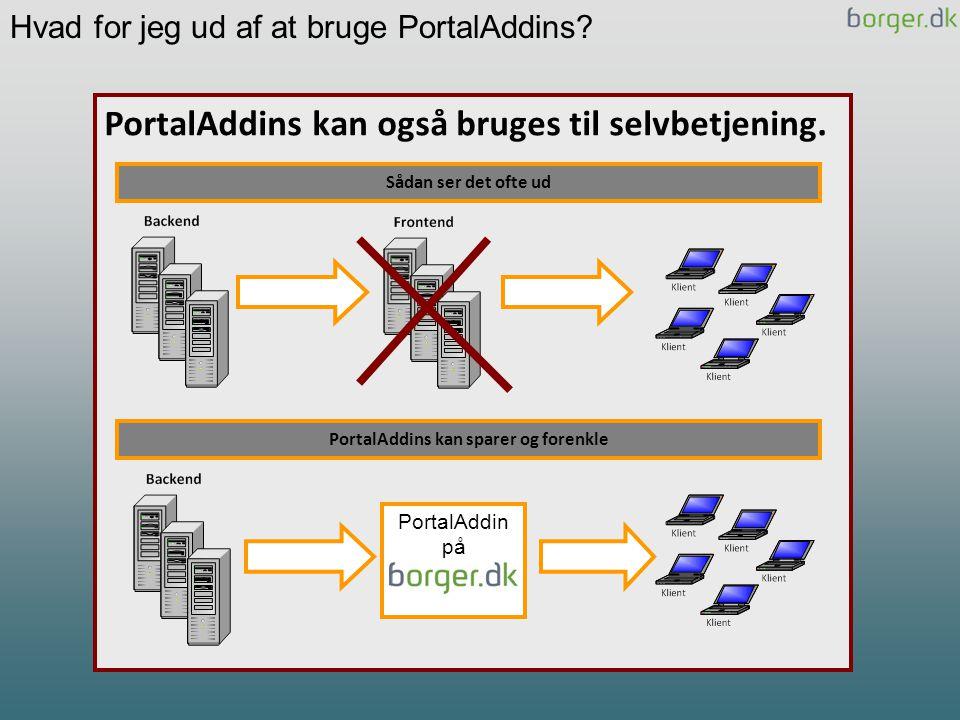 PortalAddins kan sparer og forenkle