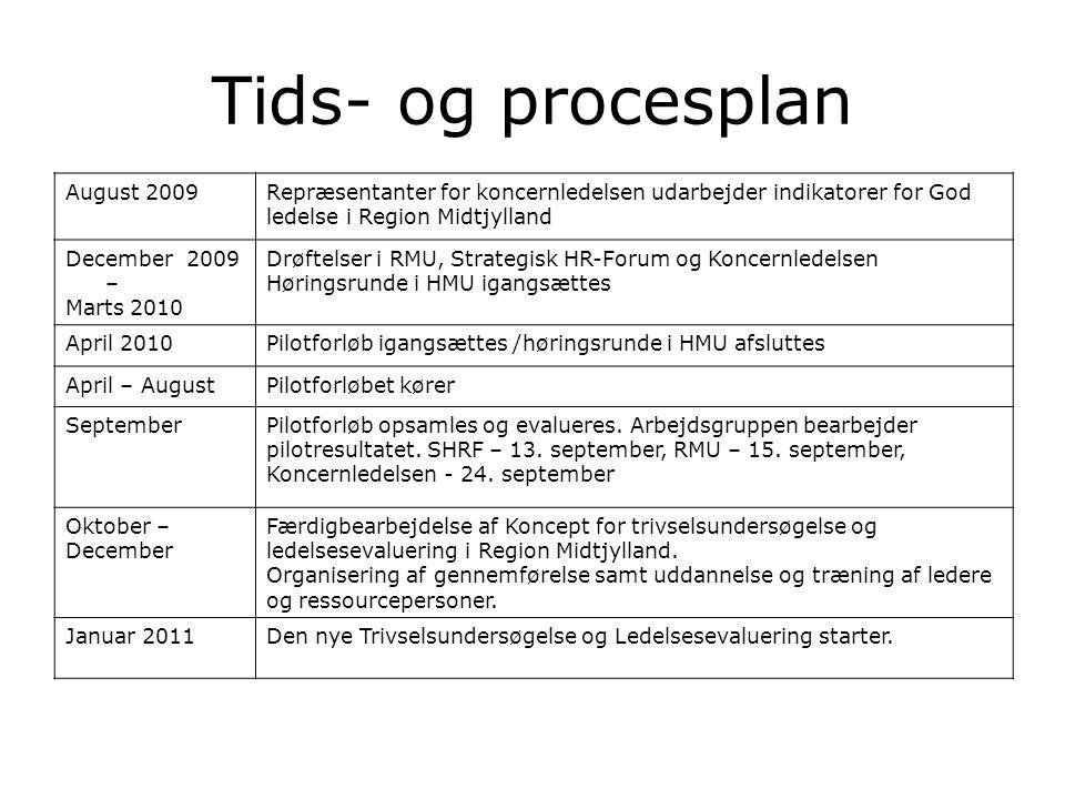 Tids- og procesplan August 2009