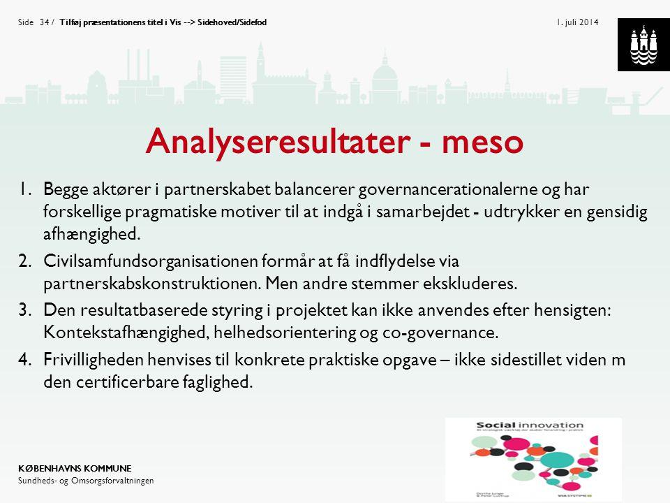 Analyseresultater - meso