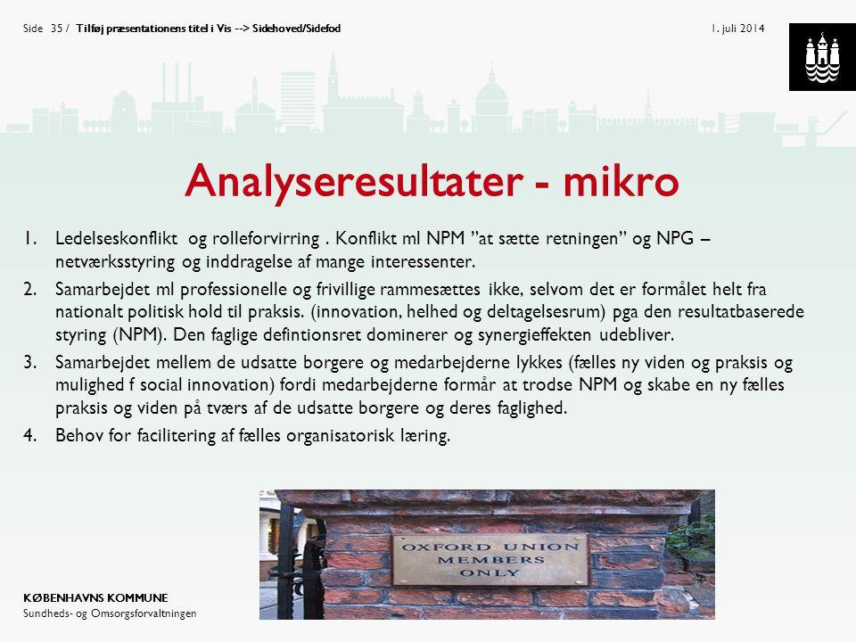 Analyseresultater - mikro