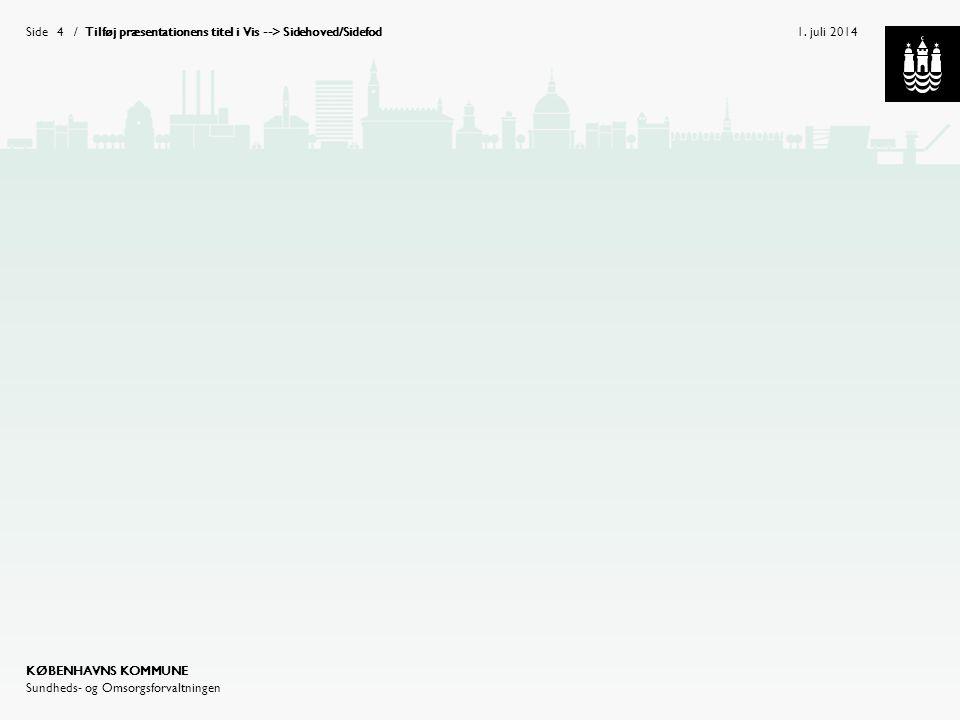 Tilføj præsentationens titel i Vis --> Sidehoved/Sidefod
