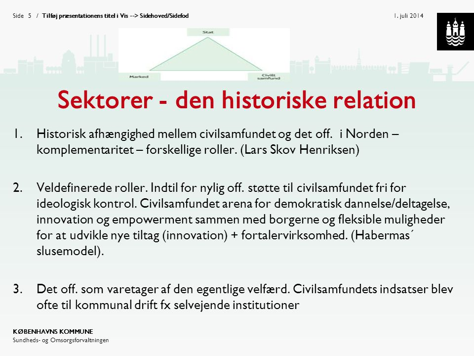 Sektorer - den historiske relation
