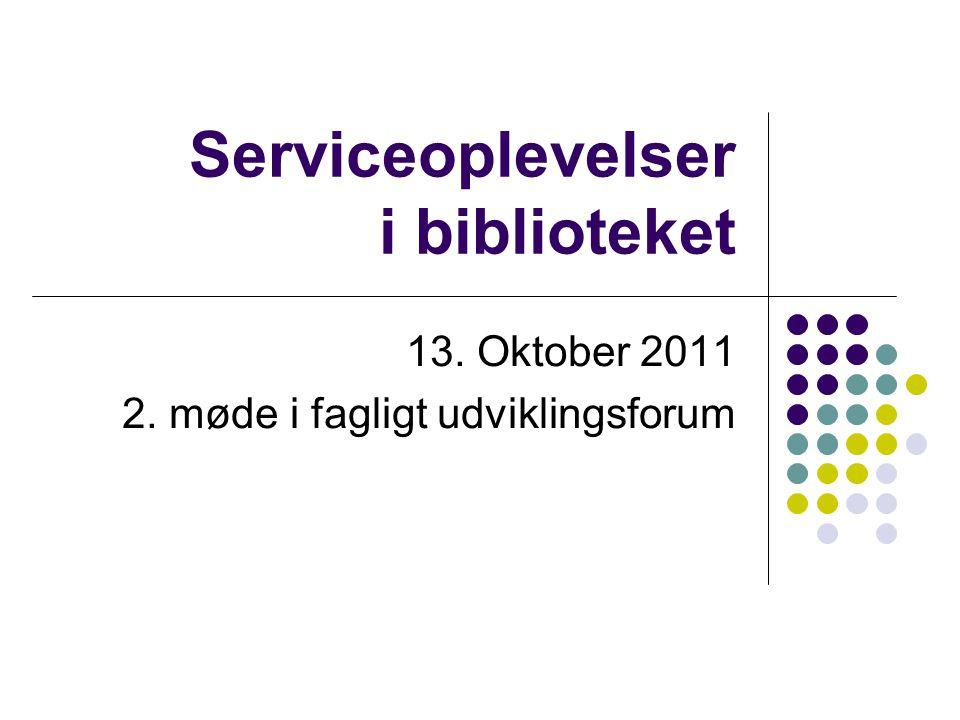 Serviceoplevelser i biblioteket