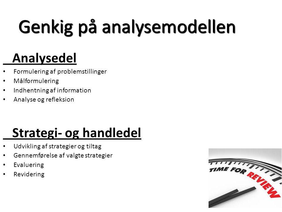 Genkig på analysemodellen