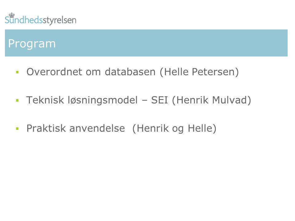 Program Overordnet om databasen (Helle Petersen)