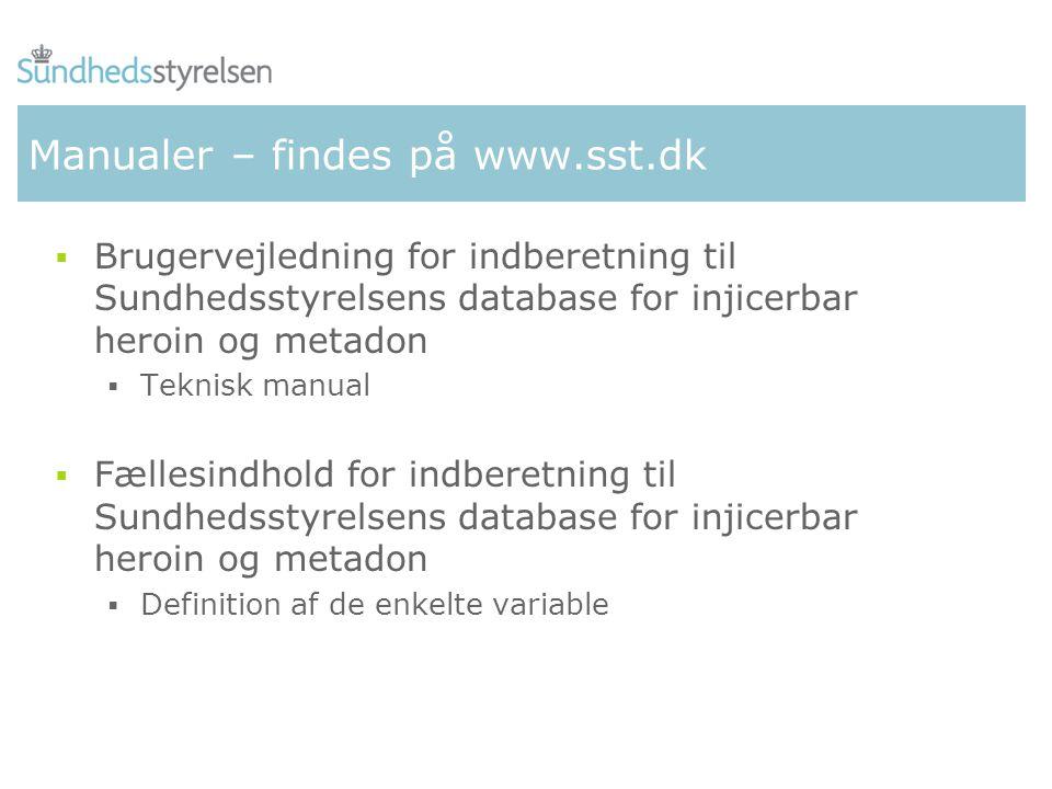 Manualer – findes på www.sst.dk