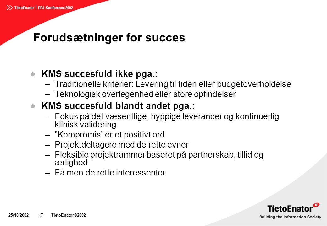 Forudsætninger for succes
