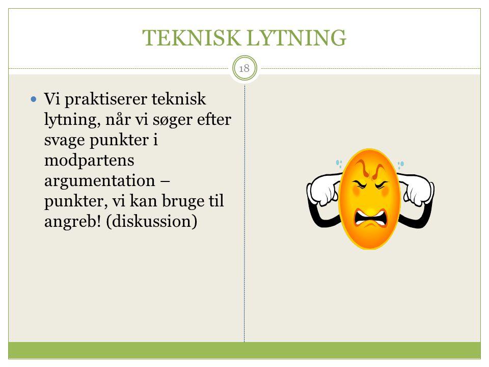 TEKNISK LYTNING