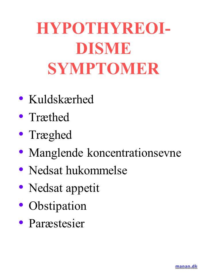 HYPOTHYREOI-DISME SYMPTOMER