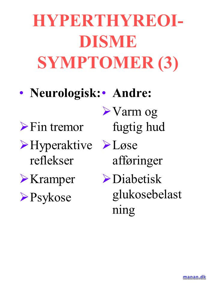 HYPERTHYREOI-DISME SYMPTOMER (3)