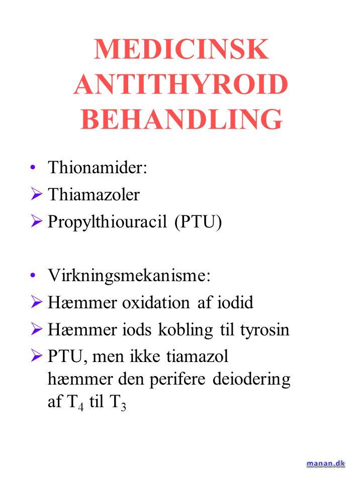 MEDICINSK ANTITHYROID BEHANDLING