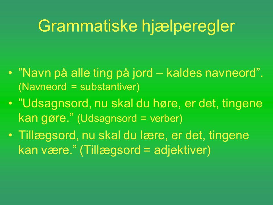 Grammatiske hjælperegler