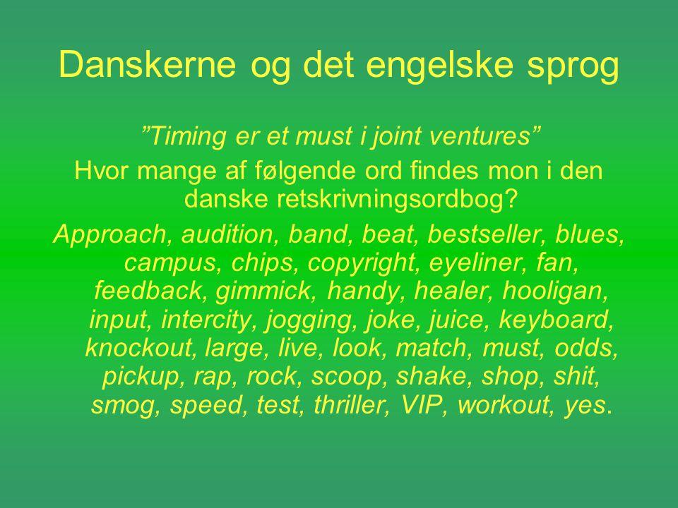 Danskerne og det engelske sprog