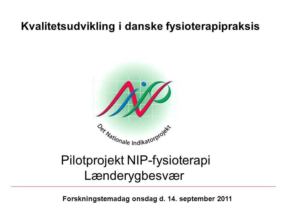 Pilotprojekt NIP-fysioterapi Lænderygbesvær