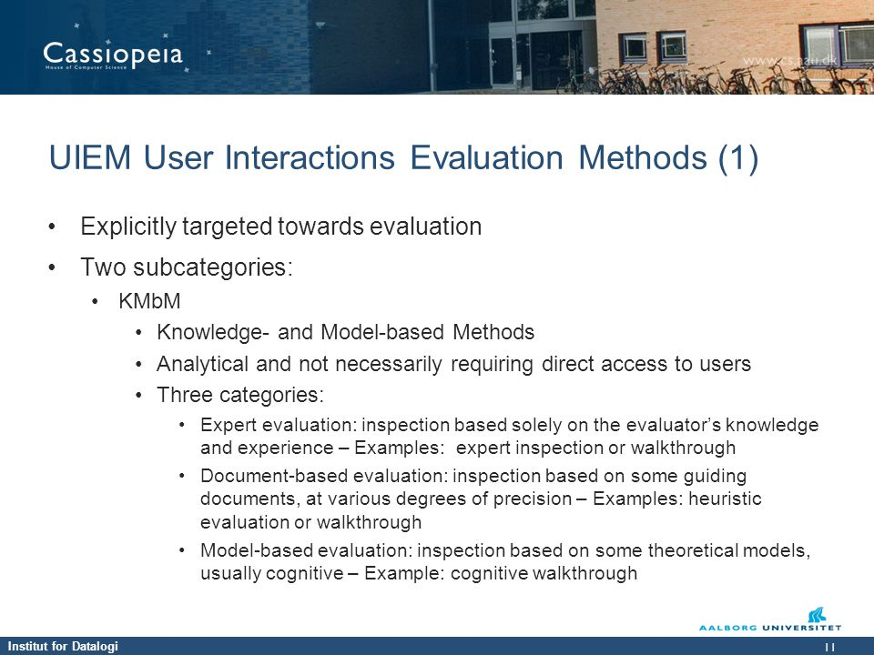 UIEM User Interactions Evaluation Methods (1)